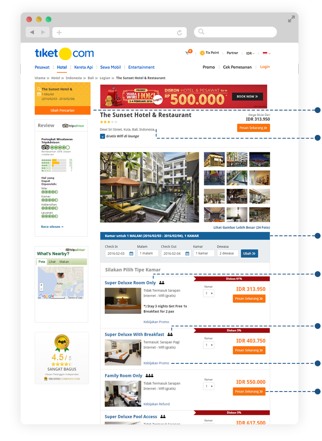 cara pesan hotel online