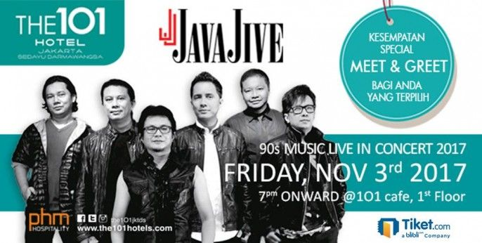 harga tiket 90s Music With Java Jive Live in Concert 2017