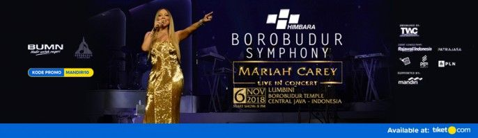 harga tiket Borobudur Symphony Mariah Carey Live in Concert 2018 Promo Mandiri