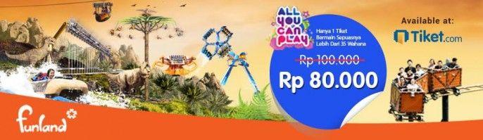 harga tiket Funland Mikie Holiday Resort Medan