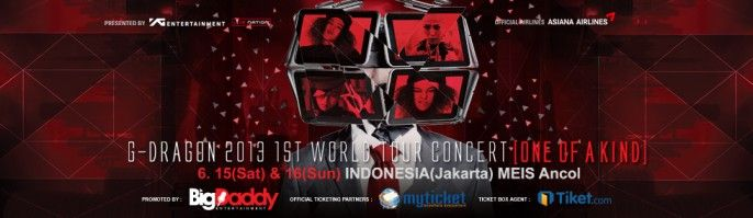 harga tiket G-DRAGON Jakarta 2013 1st World Tour [ONE OF A KIND]
