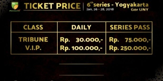harga tiket INDONESIAN BASKETBALL LEAGUE - SERIES 5 SURABAYA 2018