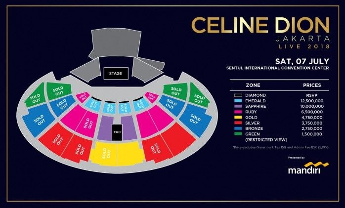 Lokasi Layout CELINE DION LIVE 2018