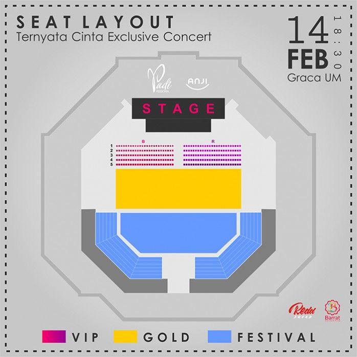 Lokasi Layout Exclusive Concert - TERNYATA CINTA PADI & ANJI 2018 Malang