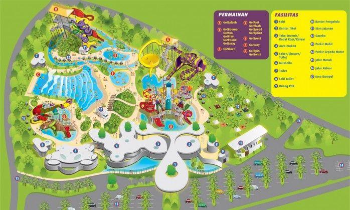 Lokasi Layout Go! Wet Waterpark Bekasi