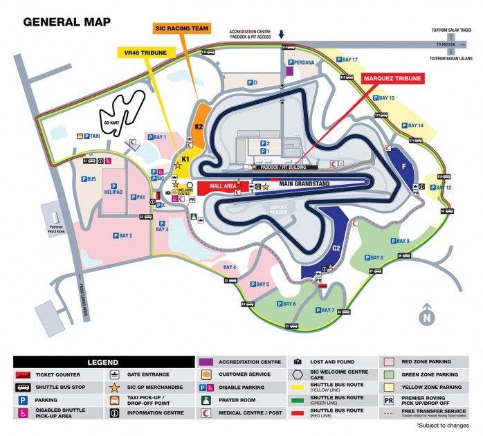 Lokasi Layout MOTOGP SEPANG MALAYSIA 2018