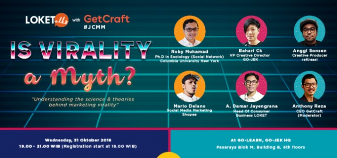 harga tiket Loketalks with GetCraft: Jakarta Content Marketing Meetup 2018