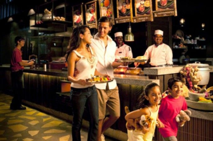 harga tiket Night Safari Singapore: Indian Buffet Dinner