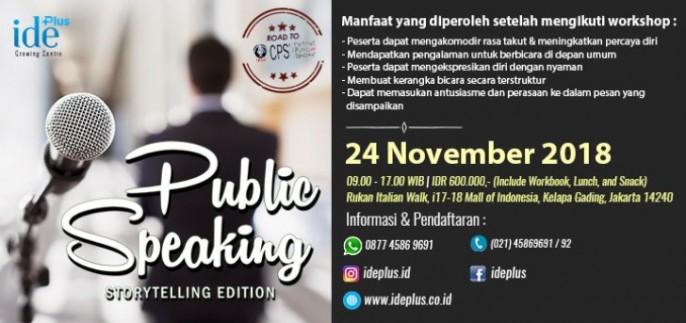 harga tiket Public Speaking - Storytelling Edition 2018