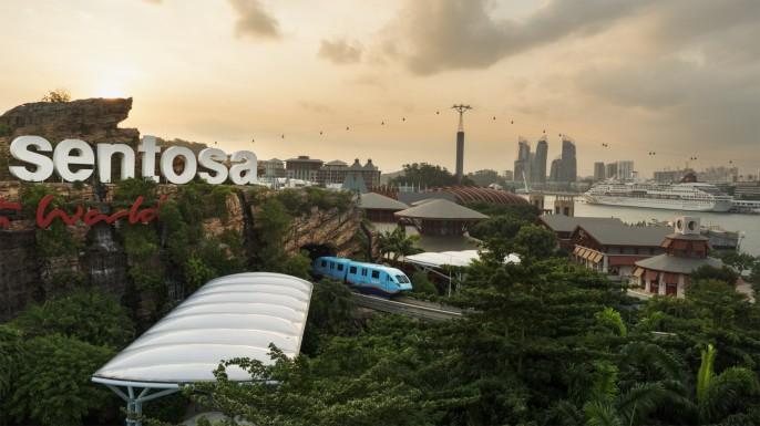 harga tiket Sentosa Monorail Express