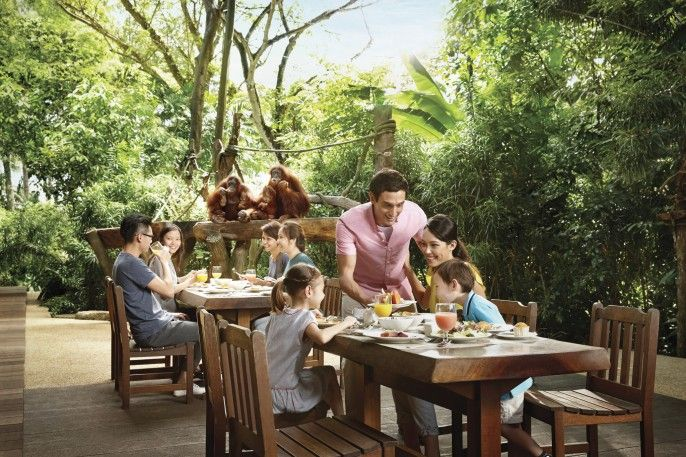 harga tiket Singapore Zoo: Jungle International Buffet Breakfast Add-on