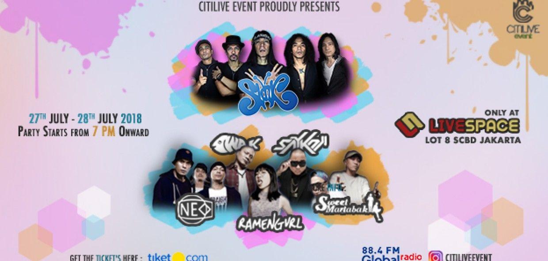 Slank Concert - Soft Opening Livespace Lot 8 SCBD 2018
