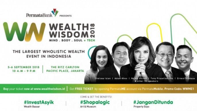 harga tiket Wealth Wisdom 2018