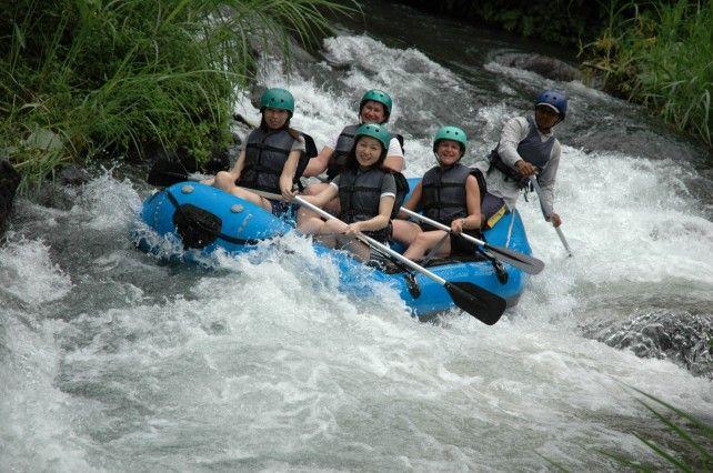 White Water Rafting at Telaga Waja