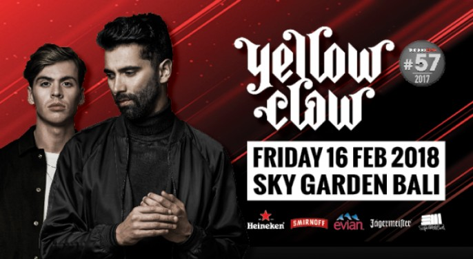 harga tiket Yellow Claw at Sky Garden Bali 2018